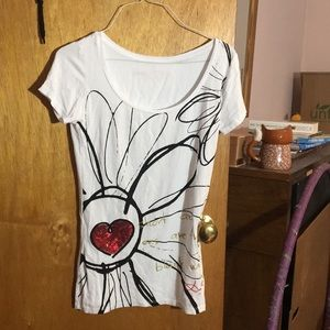 Desigual NWOT heart tee fitted Small